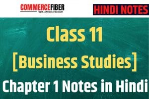 Read more about the article Class 11 [Business Studies] Chapter 1 Notes in Hindi