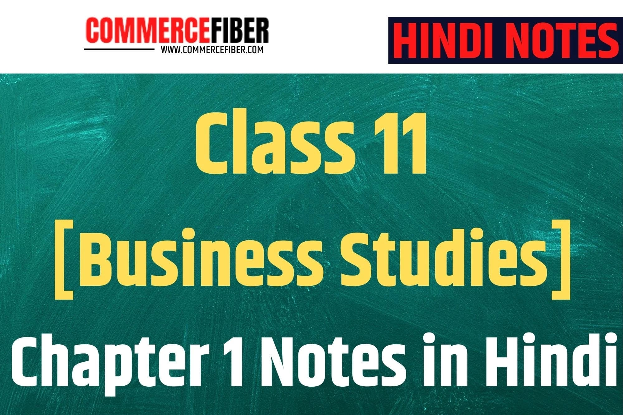 business studies class 11 chapter 1 notes in hindi